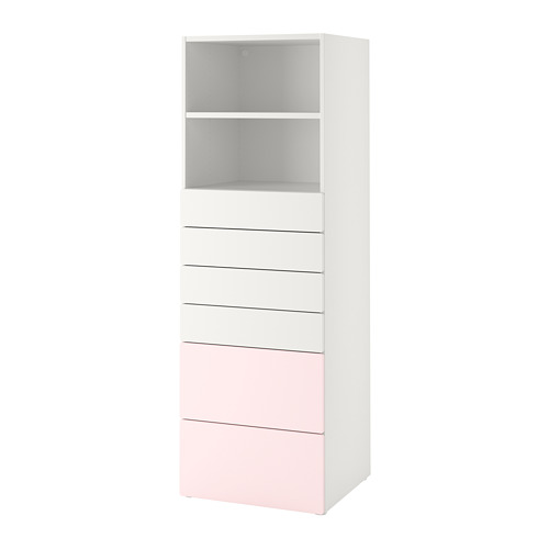 SMÅSTAD/PLATSA estantería con cajones, 60x55x180cm