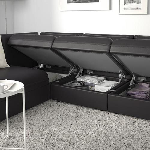VALLENTUNA sofá cama modular esquina 3 plazas, 1 módulo es cama