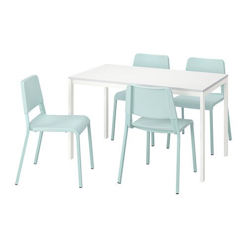 MELLTORP/TEODORES mesa con 4 sillas, longitud de la mesa 125cm