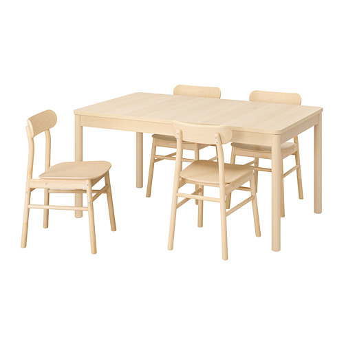 RÖNNINGE/RÖNNINGE mesa extensible con 4 sillas, máximo extensión 210cm