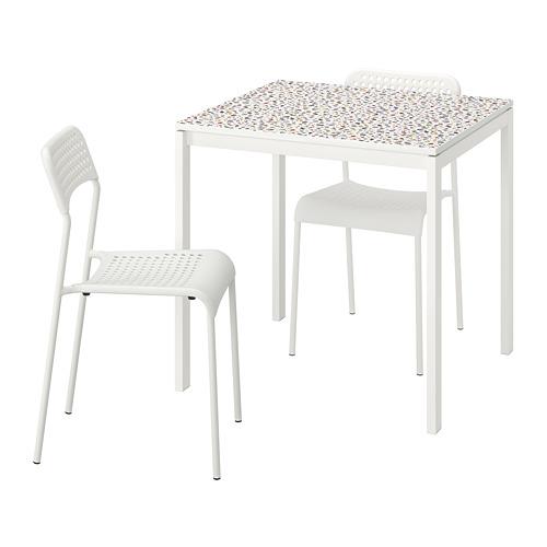 MELLTORP/ADDE mesa con dos sillas, longitud de la mesa 75cm