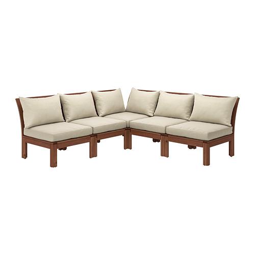 ÄPPLARÖ sofá 4 esquina modular exter