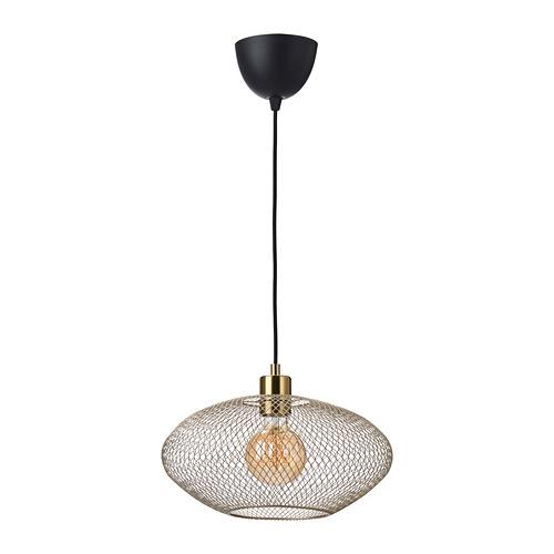 LUFTMASSA/SKAFTET lámpara techo + bombilla
