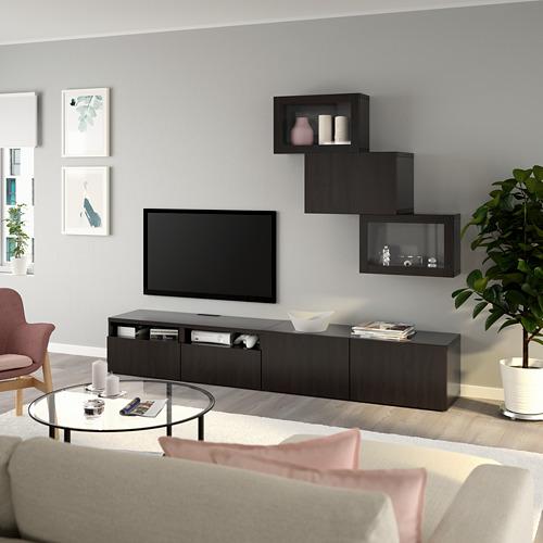 BESTÅ mueble de tv con estantería