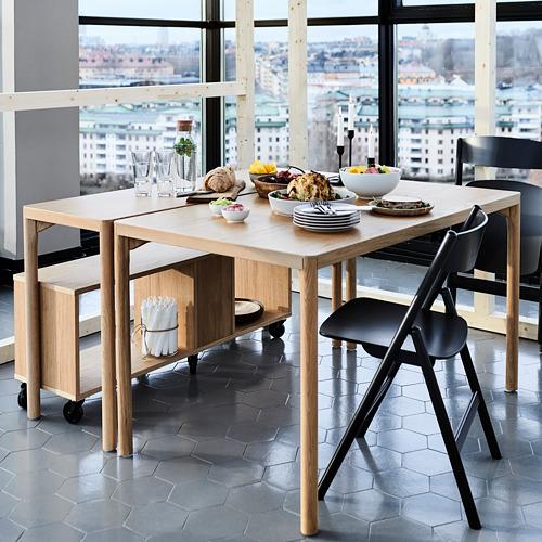 RÅVAROR mesa de comedor, 130cm de longitud