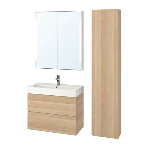 BRÅVIKEN/GODMORGON muebles de baño juego de 5