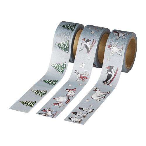 VINTER 2020 rollo cinta adhesiva con dibujos de navidad, juego de 3, 5m de longitud cada una