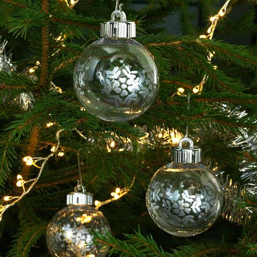 VINTER 2020 bola árbol Navidad, juego de 3, 6,5cm de diámetro
