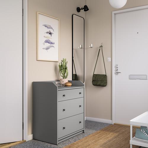 HAUGA cómoda vertical de 3 cajones, 70x46x84cm