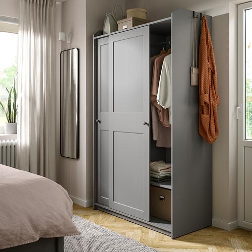 HAUGA armario puertas correderas, 118x55x199cm