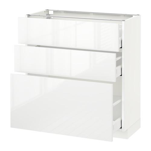METOD/MAXIMERA armario bajo cocina con 3 cajones