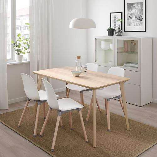 LEIFARNE/LISABO mesa con 4 sillas, longitud de la mesa 140cm