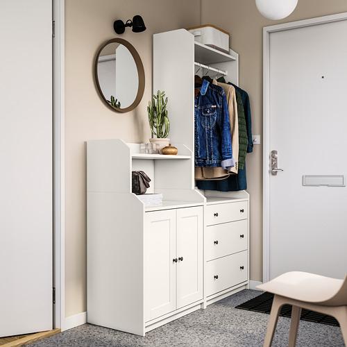 HAUGA Combinación de armario y estantería, 139x46x199cm