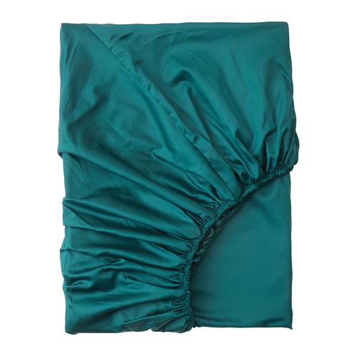 NATTJASMIN sábana bajera ajustable, 310 hilos, 90cm