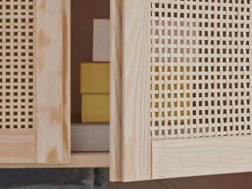 IVAR Estantería , 3 secciones con estantes y puertas, 259x30x226cm