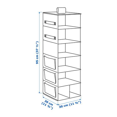 STORSTABBE almacenaje colgante con 7 compartimentos