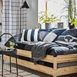 UTÅKER cama apilable, pino macizo, no incluye colchones