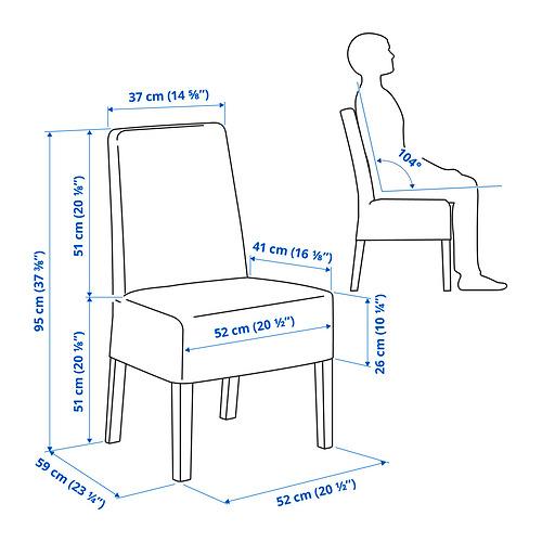 BERGMUND silla con funda de largo medio