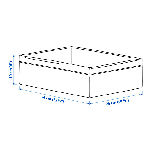 BAXNA portaobjetos, 34x26x10cm