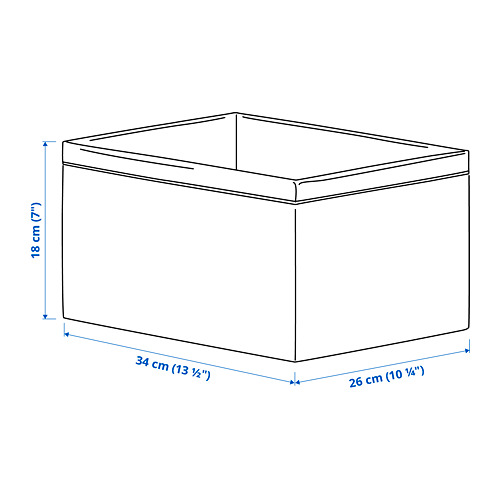 BAXNA portaobjetos, 34x26x18cm