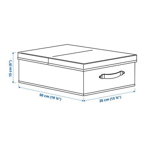 BLÄDDRARE caja con tapa, 35x50x15cm