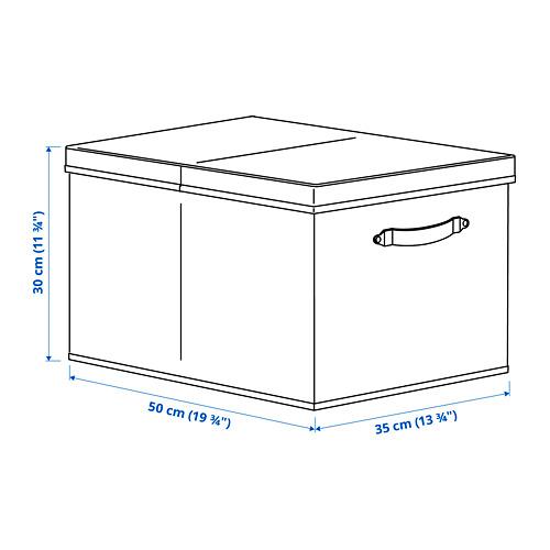 BLÄDDRARE caja con tapa, 35x50x30cm
