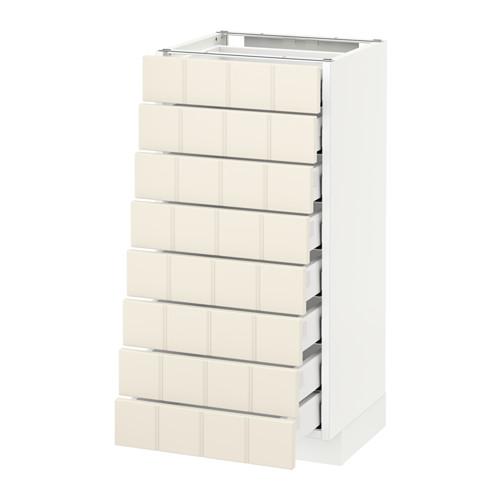 METOD/MAXIMERA armario bajo cocina con 8 cajones