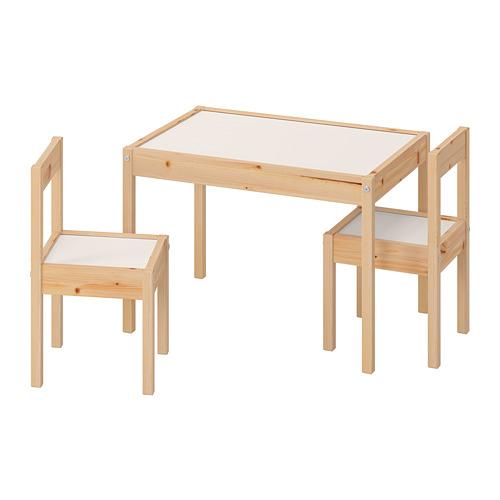 LÄTT mesa para niños con 2 sillas
