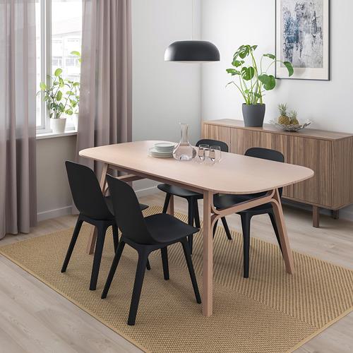 ODGER/VOXLÖV mesa con 4 sillas, longitud de la mesa 180cm