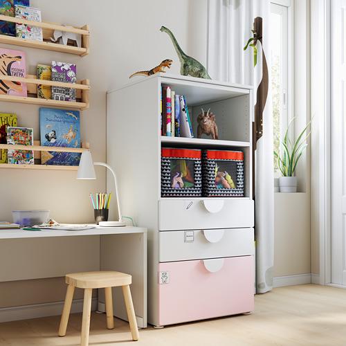 SMÅSTAD/PLATSA estantería con cajones, 60x55x123cm
