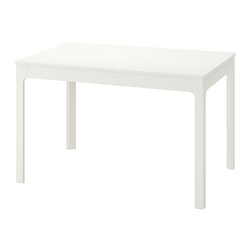 EKEDALEN mesa extensible, mínimo extensión 120cm y máximo extensión 180cm