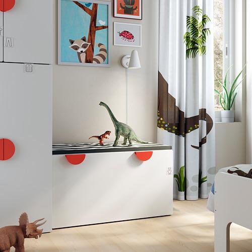 SMÅSTAD banco con almacenaje para juguetes, 90x50x48cm