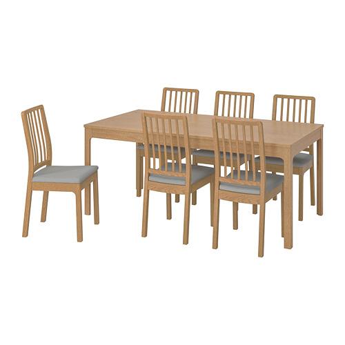 EKEDALEN/EKEDALEN mesa extensible con 6 sillas, máximo extensión 240cm