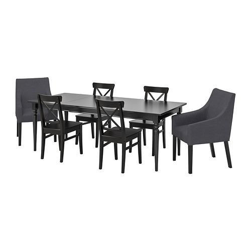 INGATORP/INGOLF mesa extensible con 6 sillas, máximo extensión 215cm
