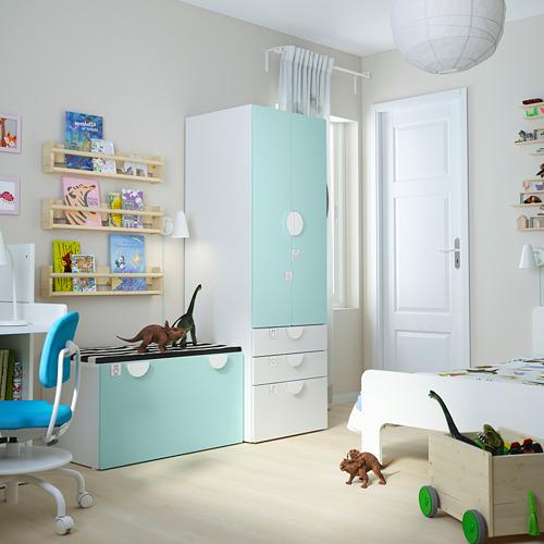 PLATSA/SMÅSTAD Combinación de armario y cajón, 150x55x180cm