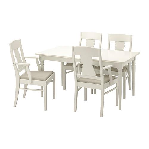 INGATORP/INGATORP mesa extensión con 4 sillas, máximo extensión 215cm