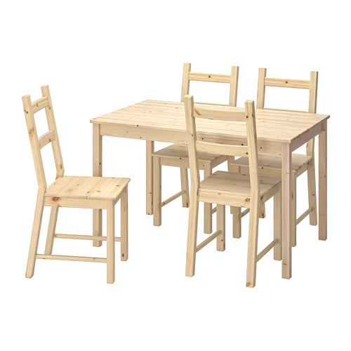 INGO/IVAR mesa con 4 sillas, longitud de la mesa 120cm