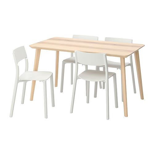 JANINGE/LISABO mesa con 4 sillas, longitud de la mesa, 140cm