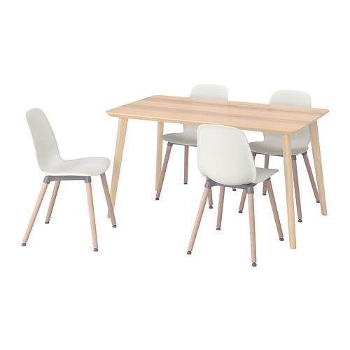 SVENBERTIL/LISABO mesa con 4 sillas, longitud de la mesa 140cm