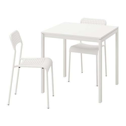 MELLTORP/ADDE mesa con 2 sillas, longitud de la mesa 75cm