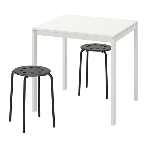 MELLTORP/MARIUS mesa con 2 taburetes, longitud de la mesa 75cm