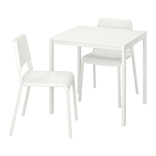 MELLTORP/TEODORES mesa con 2 sillas, longitud de la mesa 75cm