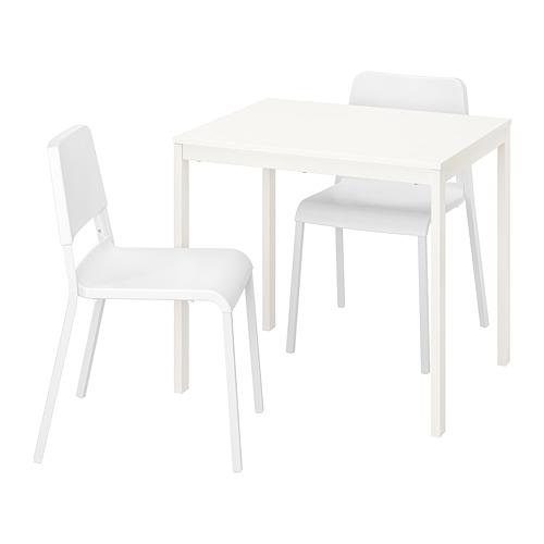 TEODORES/VANGSTA mesa extensible con 2 sillas, máximo extensión 120cm