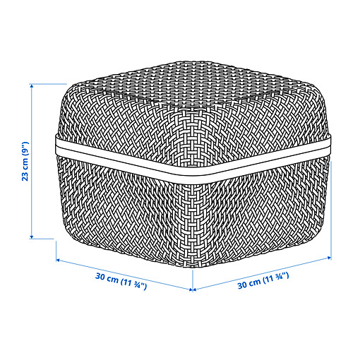 SMARRA caja con tapa, 30x30x23cm
