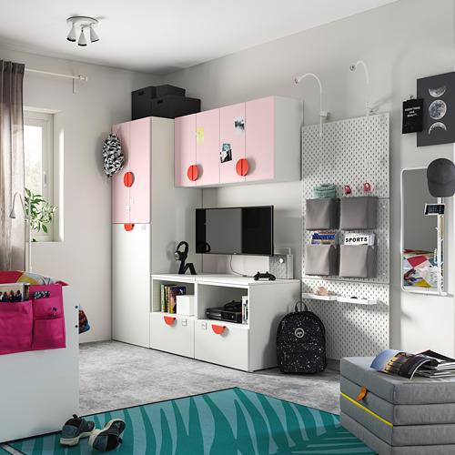 PLATSA/SMÅSTAD Combinación de armario y estantería, 180x55x196cm
