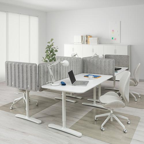 BEKANT combinación de escritorio con pantalla, 320x160cm, patas regulables