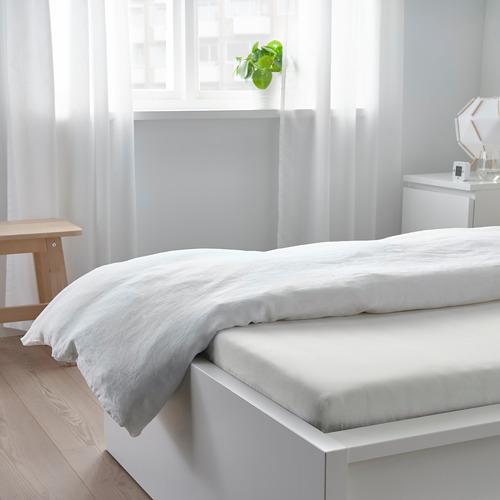 TAGGVALLMO sábana bajera ajustable, 100 hilos, 90cm