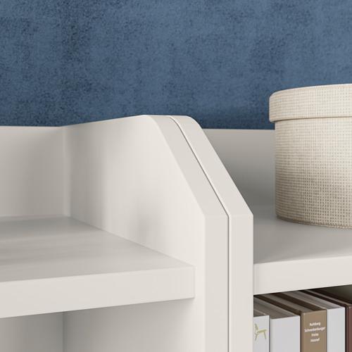 HAUGA Combinación de cómoda y estanterías, 244x46x116cm