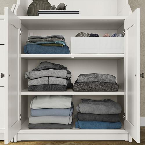 HAUGA Combinación  cómoda horizontal y estantería, 208x46x116cm