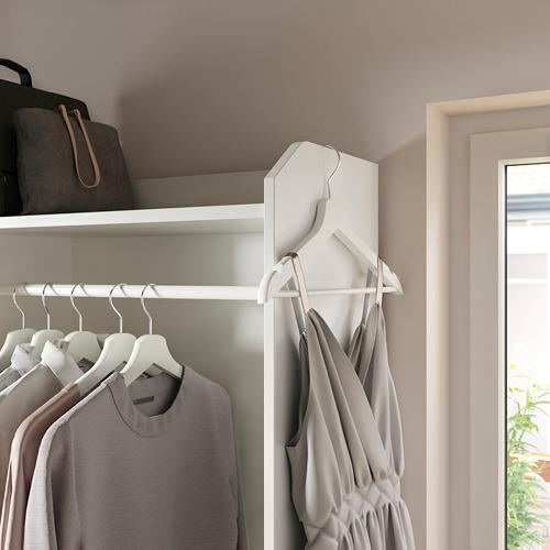 HAUGA Combinación armario abierto y cómoda, 208x46x199cm